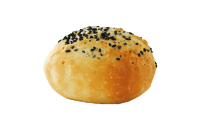 Crusty Roll Bread Round Top With Black Seeds